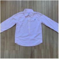 Bata masculina listrada rosa manga longa - 4 anos - Toffee