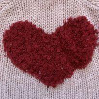 Suéter de lã coração - 12 a 18 meses - Zara