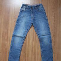 Calça jeans com lavagem - 8 anos - INK