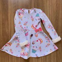 Vestido punho com pelúcia Mon Sucré - 6 anos - Mon Sucré