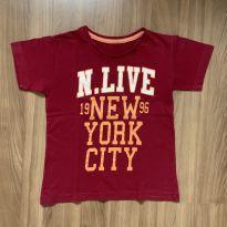 Camiseta manga curta NY - 6 anos - Não informada