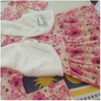 Vestido estampadinho incluso bolero com pelinhos - 18 a 24 meses - Mafessoni e Estilinho Baby e Mafessoni