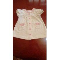 VESTIDO BABY CLUB NA COR CREME TAMANHO 6-9 MESES - 6 a 9 meses - Baby Club