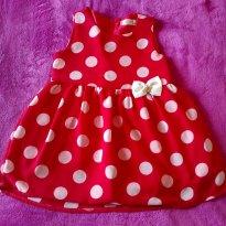 Vestido  vermelho de bolinha - 3 anos - Carinhoso