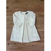 Vestido Off White Veludo GAP - 6 a 9 meses - GAP