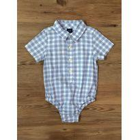Body Camisa Xadrez GAP