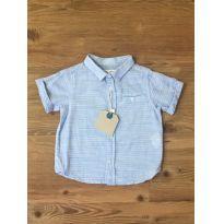 Camisa Azul Zara - 6 a 9 meses - Zara