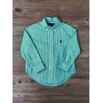 Camisa Stripes Verde Ralph Lauren