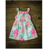Vestido Floral Flúor Carter`s - 9 meses - Carter`s