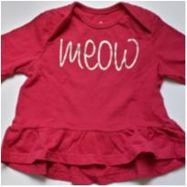 Blusa manga longa rosa pink - 3 a 6 meses - Bambini