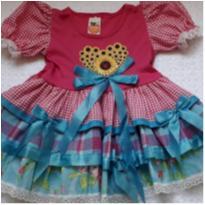 Vestido de festa junina com short - 2 anos - gugudada