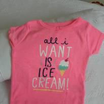 Camisetinha adoro sorvete mamãe!! - 9 meses - Carter`s