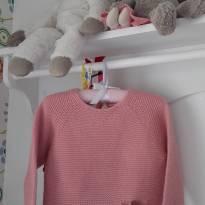 """Blusa de lã rosa """"mamãe tô com fio"""" - 3 anos - Zara Baby"""