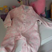 Macacão minha bolinha de algodão rosa!! - 3 meses - ZigMundi