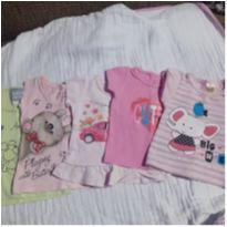 Kit camisetas 6 meses - 6 meses - Não informada