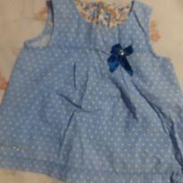 Vestido bebê - 6 a 9 meses - Pulla Bulla