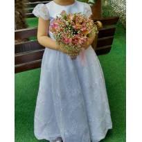 Vestido daminha / noivinha - 5 anos - Artesanal