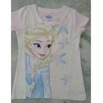 Blusa rosa Elsa - 6 anos - Renner