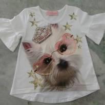 Blusa cachorrinha Pituchinhus - 6 anos - Pituchinhus