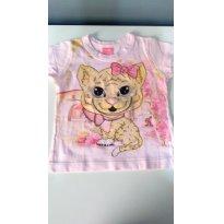 Blusa Cachorrinho rosa - 1 ano - Kamylus