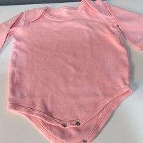 Body rosa - 6 a 9 meses - Não informada