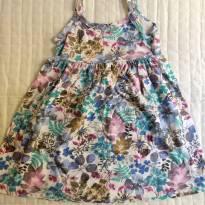 Vestido floral azul - 4 anos - Brandili