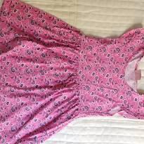 Vestido floral rosa - 4 anos - Duduka