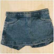 Short saia jeans - 10 anos - Figurinha