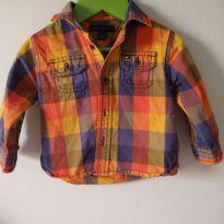 Camisa polo  xadrez Tommy Hilfiger - original - 1 ano - Tommy Hilfiger