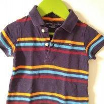Camiseta polo listrada - Tommy Hilfiger - 1 ano - Tommy Hilfiger