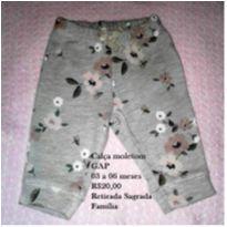 Calça  floral moletom - 3 a 6 meses - GAP