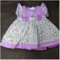 Vestido florido - 3 a 6 meses - Rayanne Baby