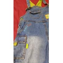 Código  120         Jardineira jeans tamanho 3 marca chicote jeans - 3 anos - Indefinida