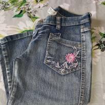 Código  143   calça  jeans capri ta 16 - 14 anos - Não informada
