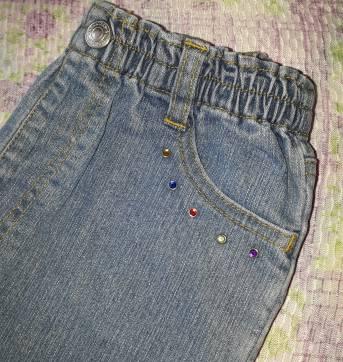 Código  146    calça jeans marca  George Tam 4 - 4 anos - Não informada