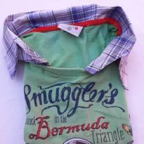 Código 178 camisa de malha com tecido marca mato Tam 2 - 2 anos - Não informada