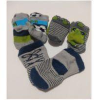 Kit Com 5 meias - Recém Nascido - Não informada