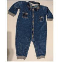 Macacão Pólo plush Jeans - 3 a 6 meses - Baby fashion