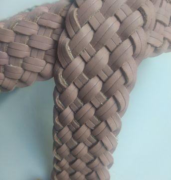 Cinto de Couro Tresse Rosé - Sem faixa etaria - Sem marca