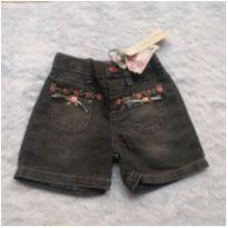 Shorts Jeans - 6 a 9 meses - Color Girl