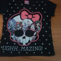 Camiseta da Monster high Tam. 6 - 5 anos - Monster High