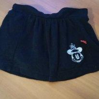 Saia com tapa calcinha  da Minie Lindinho - 0 a 3 meses - Disney baby