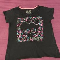 Camiseta monster high - 10 anos - Monster High