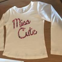 Camiseta M/ L - 3 anos - Poim, Cherokee e Up Baby