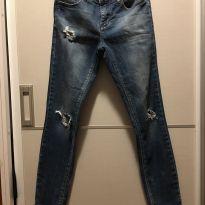 Calça jeans . Lindinha - 11 anos - Denim e Bluesteel