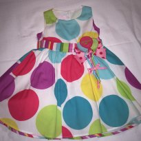 Vestido de Festa 1 ano - 12 a 18 meses - Bonnie Baby