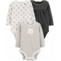 Trio de body Carter`s 3 meses novo - 3 meses - Carter`s