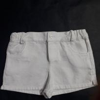 Short Em tecido Branco - 1 ano - Sem marca