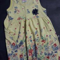 Vestido Floral amarelo - 2 anos - Brandili