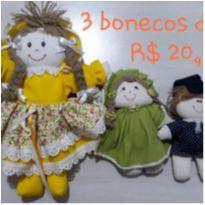 Trio de bonecas de pano -  - Sem marca